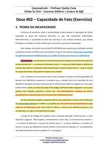 direito civil - incapacidade - 02