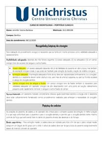 Portfólio - Exodontia dente 26 (raiz residual)