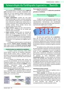 Farmacologia da cardiopatia isquêmica - FARMACOLOGIA