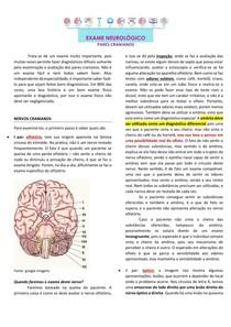 Exame neurológico - pares cranianos