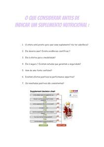 O que considerar antes de indicar um suplemento nutricional