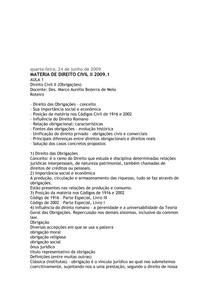MATERIAL COM GABARITO DE DTO CIVIL II - OBRIGAÇÕES