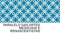 Paralelo das artes medievais e renascentistas