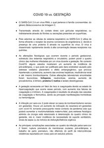 COVID 19 vs GESTAÇÃO