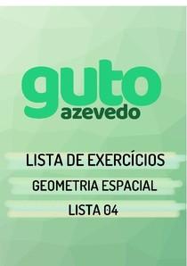 Lista de Exercícios   Geometria Espacial   Lista 04