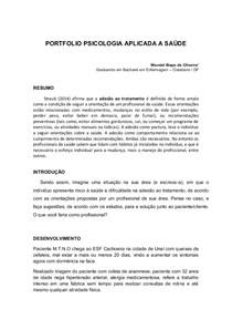 PORTIFOLIO DE PSICOLOGIA