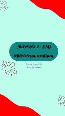 Atividade 2 - Metodologia Científica - EAD