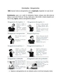 Alongamentos básicos (trapézio e pescoço) p/ aliviar a dor do seu paciente.