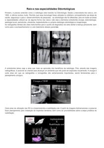 Raio-x nas especialidades Odontológicas