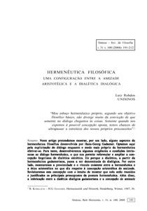 Hermenêutica Filosofica - Luis Rohden