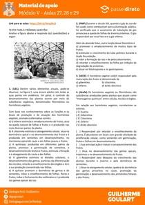Módulo 5 - aula 27 28 29 - Hormônios vegetais