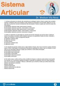 Questões de Anatomia Humana - Sistema Articular - Anatomia Prática com Prof. Dr. Wedson Vila Nova