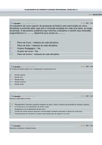 Planejamento de Carreira e Sucesso Profissional - Simulados 1, 2 e 3 - by SM