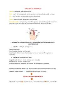 Patologia da Inflamação - Aguda e Crônica