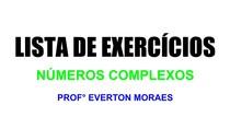 LISTA DE EXERCÍCIOS - NÚMEROS COMPLEXOS