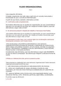 FLUXOS ORGANIZACIONAIS ESCOLARES