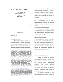Resumo do Livro Psicopatologia e Semiologia dos Transtornos Mentas - Dalgalarrondo
