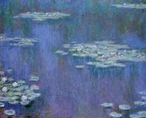 Water Lilies blue - Claude Monet