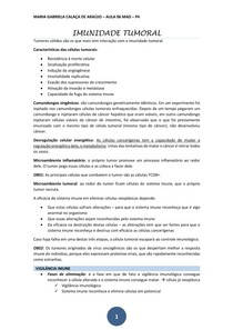 IMUNIDADE TUMORAL - 06 transcrição
