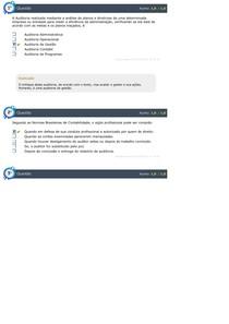 AUDITORIA CONTÁBIL E OPERACIONAL - 2º Ciclo do Simulado AV QUESTÕES 1 E 2