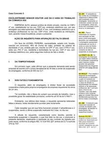 Caso Concreto 5 - AÇÃO DE INQUÉRITO PARA APURAÇÃO DE FALTA GRAVE