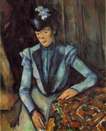 Paul Paul Cézanne - Woman Seated in Blue