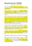 Resumos Lei nº8080 e Lei 8142