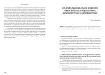 Artigo   Os três modelos de direito processual   Fredie Didier