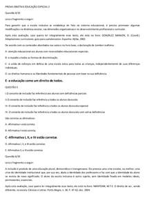 PROVA OBJETIVA EDUCAÇÃO ESPECIAL  CONFERIDA