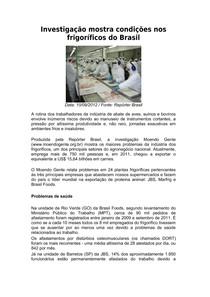 03-Investigação mostra condições nos frigoríficos do Brasil
