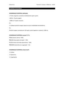 Puerpério Patológico - perguntas e respostas