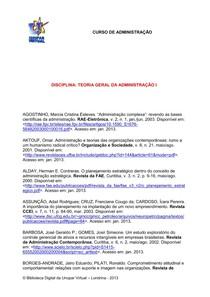 Referencias De Teoria Geral Da Administracao 1 Fundamentos E 2