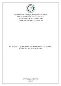 Relatório 6   Síntese do Acetato de Butila