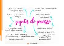 Sujeitos do processo - Mapa Mental