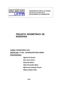 Apostila PROJETO GEOMÉTRICO DE RODOVIAS