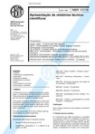 NBR 10719   1989   Apresentação de Relatório Técnico Científico