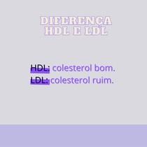difrença LDL HDL