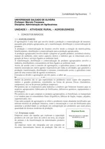 Apostila Agrobusiness