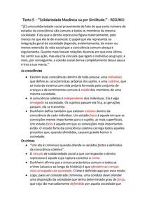 Texto 5 ''Solidariedade mecânica ou por similitude'' RESUM