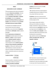 INDICADORES DE MORBIDADE