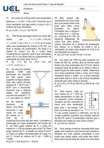 Lista 03 - Leis de Newton (Sem atrito)
