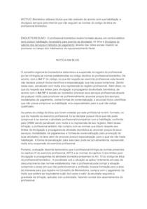 ÉTICA BIOMEDICINA - Atividade sobre infração do código de ética (biomed)