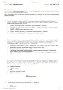 Tópicos Especiais em Serviço Social Teste de Conhecimento 1 Aula 2