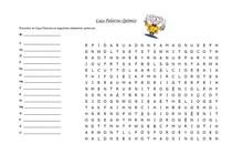Jogos Pedagógicos - Caça Palavras Químico (fácil) - Elementos químicos e tabela periódica
