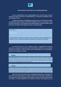 Empreendedorismo - conceitos e características