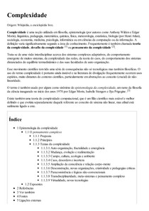Complexidade – Wikipédia  a enciclopédia livre