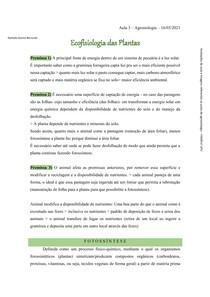 Ecofisiologia das Plantas