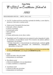 O SUS na Constituição Federal de 1998