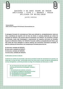 QUESTÃO COMENTADA - OAB - EXAME DA ORDEM - ÉTICA PROFISSIONAL
