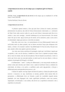 A importância do ato de ler -PAULO FREIRE
